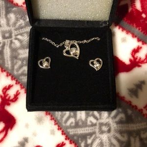 New hearts necklace and earrings
